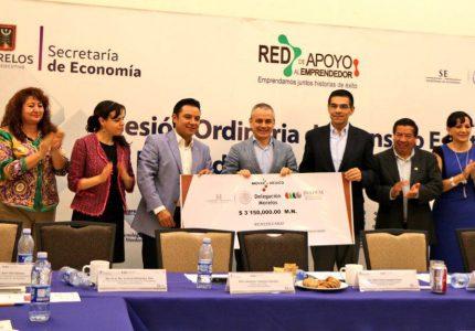 Emprendedores de Morelos reciben apoyos del Fondo Nacional Emprendedor