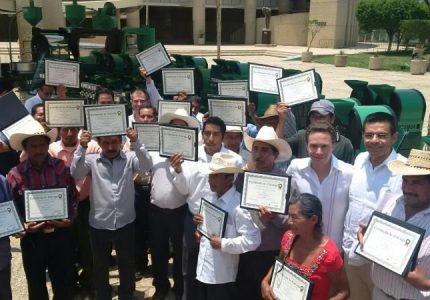 ENTREGAN APOYOS DEL FONDO NACIONAL EMPRENDEDOR A PRODUCTORES CHIAPANECOS DE CAFÉ
