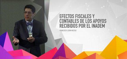 Efectos fiscales y contables de los apoyos recibidos por el INADEM