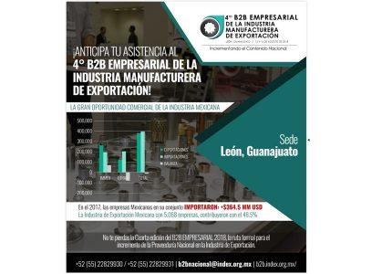 4° B2B Empresarial de la Industria Manufacturera de Exportación