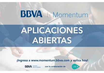 ¡Aplicaciones Abiertas! BBVA Momentum 2018