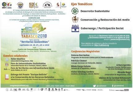 Congreso Internacional de Recursos Naturales 2018