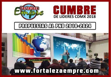 CUMBRE DE LIDERES, PROPUESTAS AL PND 2018-2024