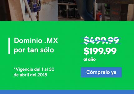 ¿Te diriges a los compradores mexicanos? .mx es tu dominio.