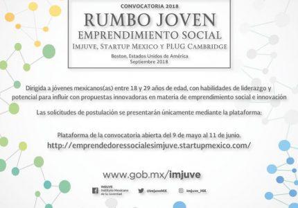 """Convocatoria 2018 """"Rumbo Joven. Emprendimiento Social"""""""